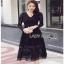 Lady Ribbon Mini Dress เดรสลูกไม้สีดำ thumbnail 8