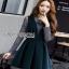 Lady Ribbon Danielle Green Pleated Set Dress thumbnail 2