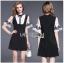 Lady Ribbon Mini Dress with Ribbon มินิเดรสสีดำ thumbnail 1