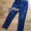 Lady Ribbon Online ขายส่งเสื้อผ้าออนไลน์ ขายส่งของแท้พร้อมส่ง Lady Ribbon LR17250716 &#x1F380 Lady Ribbon's Made &#x1F380 Lady Kim Skinny Jeans with Crystal Embellished thumbnail 6