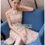 Lady Ribbon Mini Dress มินิเดรสผ้าลูกไม้สีครีมอ่อน thumbnail 2