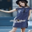 Seoul Secret Catty Denim Dress เดรสเชิ้ตเก๋ ดีเทลน่ารักๆ thumbnail 1