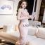 Lady Ribbon Pale Pink Midi Dress thumbnail 1