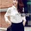 Lady Ribbon Online ขายส่งเสื้อผ้าออนไลน์ Lady Ribbon พร้อมส่ง LR06040816 &#x1F380&#x1F380 Lady Ribbon's Made &#x1F380&#x1F380 Lady Blaire Floral Embroidered Lace Shirt in White thumbnail 4