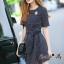 Lady Ribbon Online เสื้อผ้าออนไลน์ขายส่ง Normal Ally เสื้อผ้า,NA13220816 &#x1F389Normal Ally Present Boutique new autumn collection dress and Dimond and pearl brooch&#x1F389 (เดรส + เข็มกลัดเพชรเกสรไข่มุก, มีซับในอย่างดี, มีเชือกเข็มขัด) thumbnail 5