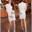 Lady Ribbon Online เสื้อผ้าแฟชั่นออนไลน์ขายส่ง เลดี้ริบบอนของแท้พร้อมส่ง Veryverypreppy เสื้อผ้า VP08240716 Luxury Lace White embroidery dress thumbnail 2