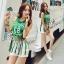 Lady Ribbon Online ขายส่งเสื้อผ้าออนไลน์ เสื้อผ้า Sevy SV10030816 &#x1F389Sevy Play Sport Green Tassel Sleeveless T-Shirt thumbnail 2