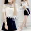 Sevy Two Pieces Of Lace Blouse With Oblique Shorts Sets thumbnail 1