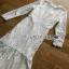 Lace Ruffle Dress Lady Ribbon เดรสลูกไม้สีขาว thumbnail 5