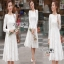 Dress เดรสผ้าลูกไม้สีขาวไสตล์คลาสสิก thumbnail 1