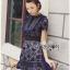 Lady Ribbon ขายส่งเสื้อผ้าออนไลน์พร้อมส่งของแท้ LR02220716 &#x1F380 Lady Ribbon's Made &#x1F380 Self-Portrait Louisa Guipure Lace Dress thumbnail 4
