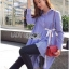 Lady Ribbon Online เสื้อผ้าออนไลน์ขายส่ง Lady Ribbon เสื้อผ้า LR12180816 &#x1F380 Lady Ribbon's Made &#x1F380 Lady Lauretta Minimal Chic Poplin Cotton Long Shirt with Ribbon เชิ้ตยาวผ้า thumbnail 6