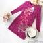 Dress เดรสลูกไม้ลุคเกาหลีเสื้อผ้าแฟชั่นเรียบหรู thumbnail 5