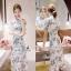 floral lace pretty dress เดรสทรงแขนสั้นทรงยาวเลยเข่า thumbnail 1
