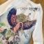 Lady Ribbon Online ขายส่งเสื้อผ้าออนไลน์เลดี้ริบบอน LR10010816 &#x1F380 Lady Ribbon's Made &#x1F380 Lady Olivia Smart Casual Colourful Printed Dress เดรสผ้าสีขาว thumbnail 5