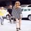 เสื้อกางเกงผ้าเนื้อนุ่มแฟชั่นเกาหลีลายทาง thumbnail 6