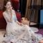 ชุดเดรสผ้ามุ้งเกาหลีสีขาว thumbnail 2