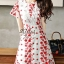 White & Red Gorgeous Lady Flora Dress thumbnail 2