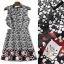 NA11010916 &#x1F389Normal Ally Present Love jacquard skirt dress&#x1F389 (เดรส , มีซับใน, ซิปหลัง) thumbnail 6