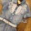 Lady Ribbon Online ขายส่ง เสื้อผ้าออนไลน์ ของแท้ ราคาถูกพร้อมส่ง เลดี้ริบบอน LR09140716 &#x1F380 Lady Ribbon's Made &#x1F380 Chanel White Lace Denim Shirt Dress with Belt thumbnail 7