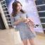 Lady Ribbon Lace Dress in Light Blue thumbnail 4