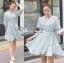 Lady Ribbon Online เสื้อผ้าออนไลน์ขายส่ง Lady Ribbon เสื้อผ้า LR06180816 &#x1F380 Lady Ribbon's Made &#x1F380 Lady Lucie Julie Sweet and Pure White Daisy Printed Pale Blue Dress เดรสสีฟ้าอ่อน thumbnail 4