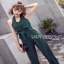 Lady Ribbon Fiona Chic Dark Green Jumpsuit thumbnail 4