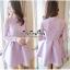 Lady Ribbon Online ขายส่งเสื้อผ้าออนไลน์ Very very pretty VP04030816 Luxury Lace Cut-Out Embroidered Pearls Dress เดรสผ้า thumbnail 1