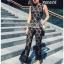 Lady Ribbon Plain Lace Jumpsuit จัมป์สูทขายาว thumbnail 2