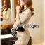 Lady Ribbon Online ขายส่งเสื้อผ้าออนไลน์ เลดี้ริบบอน LR16280716 &#x1F380 Lady Ribbon's Made &#x1F380 Lady Kate Elegant Chic Gold and Pink Lace Dress เดรสผ้าลูกไม้สี thumbnail 2