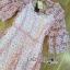 Lady Ribbon ขายส่งเสื้อผ้าออนไลน์พร้อมส่งของแท้ LR20220716 &#x1F380 Lady Ribbon's Made &#x1F380 Lady Anna Sweet Feminine Floral Pink Lace Dress เ thumbnail 5