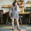 ชุดเดรสพร้อมส่งสีม่วงพาสเทลงานเกาหลีสวย thumbnail 2