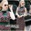 Lady Ribbon Online ขายส่งเสื้อผ้าออนไลน์ Lady Ribbon พร้อมส่ง LR17040816 &#x1F380 Lady Ribbon's Made &#x1F380 Lady Taylor Red-Green Graphic Printed Sleeveless Maxi Dress thumbnail 1