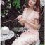 Lady Ribbon Online ขายส่งเสื้อผ้าออนไลน์เลดี้ริบบอน LR21010816 &#x1F380 Lady Ribbon's Made &#x1F380 Lady Gabriella Sexy Feminine Flower Embroidered Pinky Dress thumbnail 3