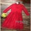 Maxi Dress เดรสผ้าลูกไม้งานแบรนด์แฟชั่นเกาหลี thumbnail 6