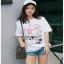 White CHANEL T-Shirt Lady Ribbon ทีเชิ้ตสีขาว thumbnail 3