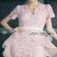 Lady Ribbon Pink Lace Dress with Organza Ruffle thumbnail 5