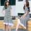 Lady Ribbon Online เสื้อผ้าออนไลน์ขายส่ง lady ribbon เสื้อผ้า LR15150816 Dress เชิ้ตเดรสลายทางตกแต่งชายระบายสไตล์มินิมัล thumbnail 2