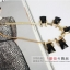 AG1711 - สร้อยหิน สร้อยคอ สร้อยหินนำโชค เครื่องประดับ big geometric necklace collarbone chain thumbnail 2