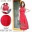 เดรสหรูสีแดงสดสวย เนื้อผ้าลูกไม้ thumbnail 1