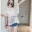 Lady Ribbon Online ขายส่งเสื้อผ้าออนไลน์ ขายส่งของแท้พร้อมส่ง Lady Ribbon LR15250716 &#x1F380 Lady Ribbon's Made &#x1F380 Lady Romy Romantic White Guipure Lace and Cotton Top thumbnail 4