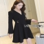 Lady ribbon Black Dress with Metal Ring thumbnail 4