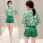 Sevy Two Pieces Of Leaves Blouse With Shorts Sets thumbnail 1
