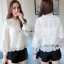 Lady Ribbon Classic Sweet White Lace Blouse thumbnail 1