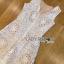 Lady Ribbon Online เสื้อผ้าออนไลน์ ขายส่งของแท้ราคาถููก LR06110716 &#x1F380 Lady Ribbon's Made &#x1F380 Lady Katy Smart Casual White Guipure Lace Jumpsuit thumbnail 4