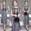 Lady Ribbon Online เสื้อผ้าแฟชั่นออนไลน์ขายส่ง เลดี้ริบบอนของแท้พร้อมส่ง sevy เสื้อผ้า SV03240716 &#x1F389Sevy Northern Silk Pattern Open Leg Maxi Dress thumbnail 2