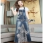 Lady Ribbon Tanya White T-Shirt Denim and Lace Overall Dress เอี้ยมยีนส์เสื้อยืด thumbnail 3