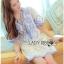 Blue and White Embroidered Dress เดรสปักและตกแต่งลายสีฟ้า- thumbnail 6