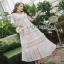 Lady Ribbon Chic Ivory Lace Maxi Dress thumbnail 5