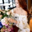 Gold Feather Embroidered Organza Dress เดรสผ้าแก้ว thumbnail 6